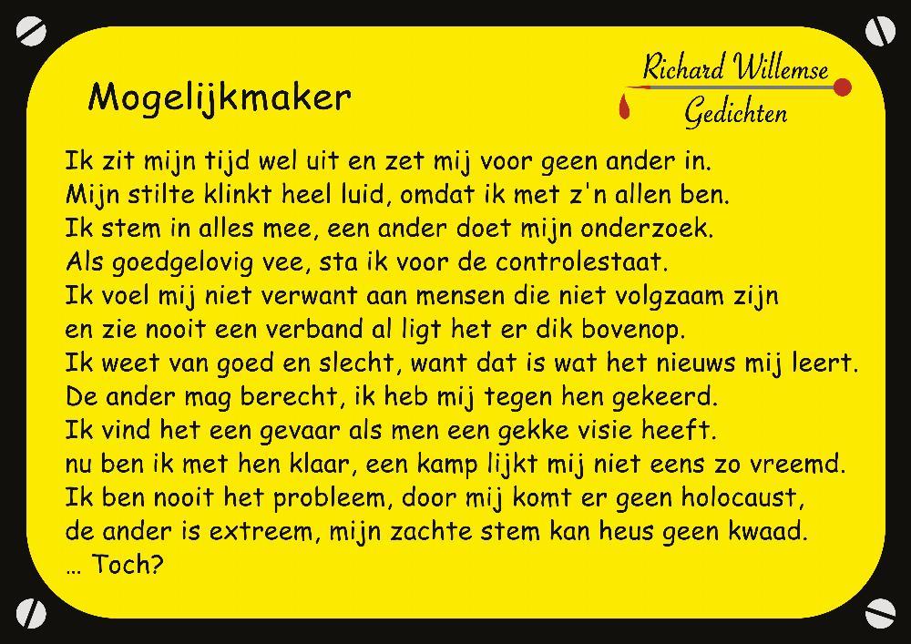 Richard Willemse Gedichten - Mogelijkmaker