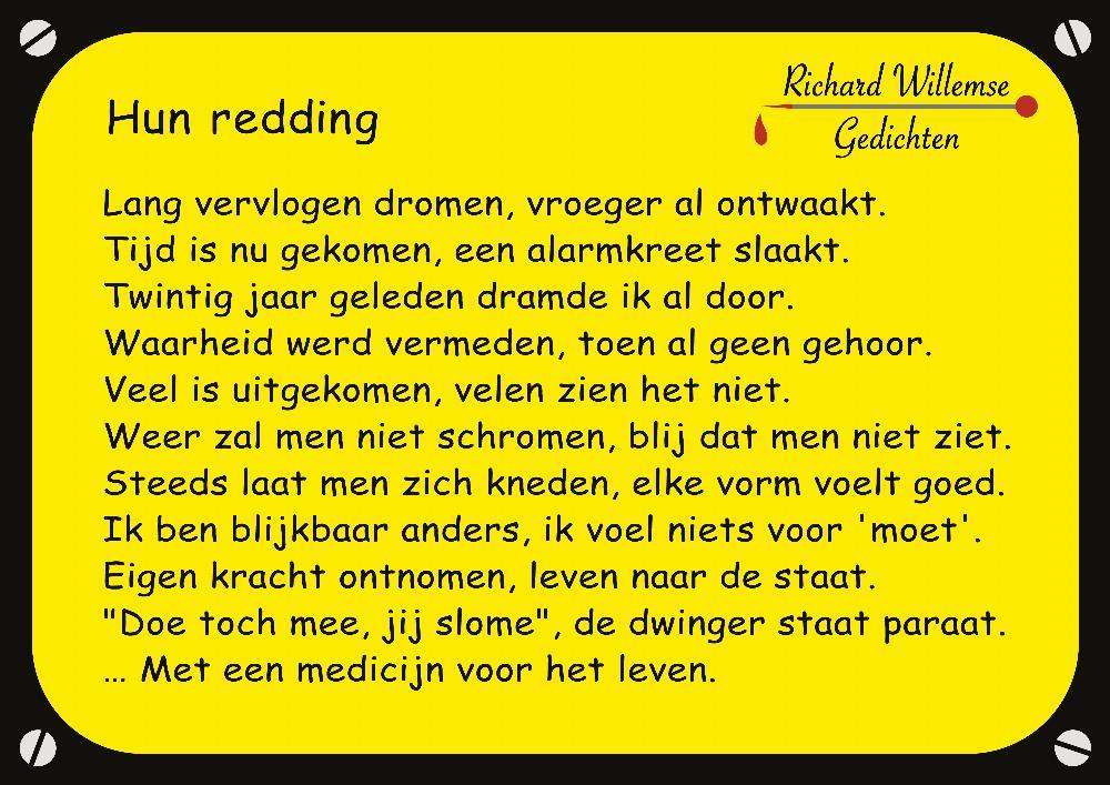 Richard Willemse Gedichten - Hun redding