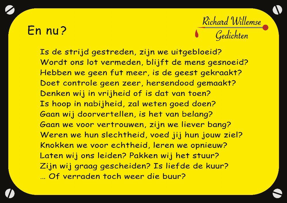 Richard Willemse Gedichten - En nu?